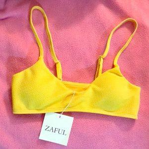 ZAFUL bathing suit top ☀️ 🌻